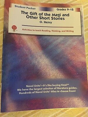 Novel Units, THE GIFT OF THE MAGI AND OTHER SHORT STORIES, New copy!!!