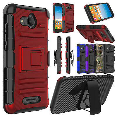 For Alcatel Tetra 6753B/5041C Case Shockproof Armor Kickstand Holster Clip Cover