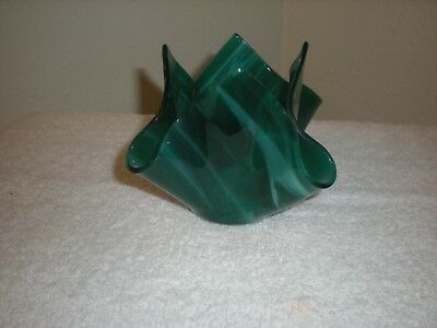 Beautiful Isis Glass Tealight Voltive Vase - Green