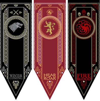 Home Decor Game Of Thrones Banner Flag  Sigil House Stark Lannister Targaryen