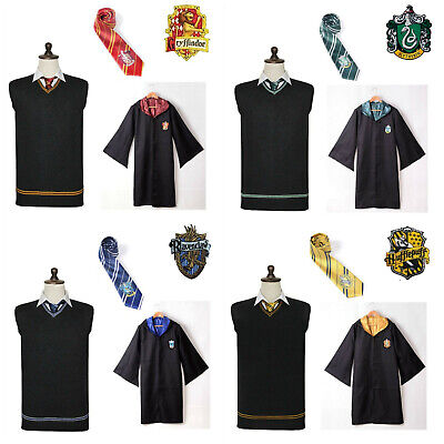 Harry Potter Costume Cosplay Vest Robe Gryffindor Ravenclaw Hufflepuff Book Week