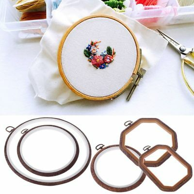 DIY Wooden Cross Stitch Machine Embroidery Hoop Ring Hand Sewing Craft