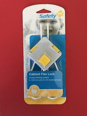 1x Safety 1st First Child Baby - 3 Way Safety Cabinet Flex Lock Secure System