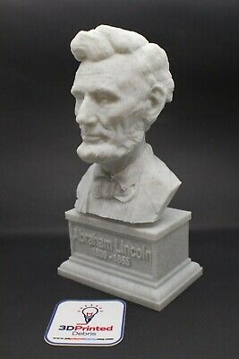 Abraham Lincoln 7 inch 3D Printed Bust DC President Art FREE SHIPPING
