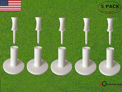 """Rubber Golf Tees 1 1/2"""" 5 Pack With 6Pcs Castle Tee Driving Range Practice Mat"""