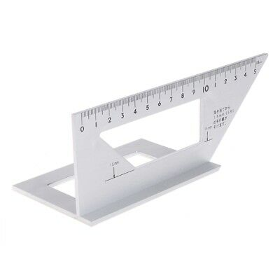 Aluminum Woodworking Ruler Multifunctional Layout Miter Square 45° 90° Gauge New