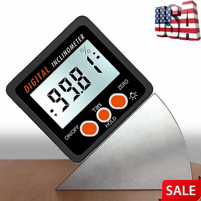 Mini LCD Digital Inclinometer Protractor Bevel Box Angle Gauge Magnet Base K6T2