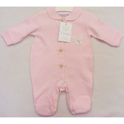 Baby Girls Spanish Style Romany Butterfly & Faux Pearls  Romper Babygrow Outfit