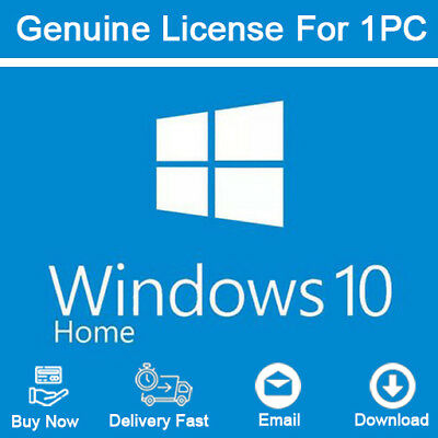 Windows 10 Home 32/64 Bit Key with Download Links Activation Genuine