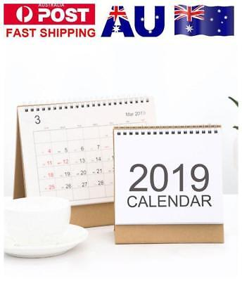 2019 Desk Calendar Month To View Stand Up Office Home Room Table Planner Note