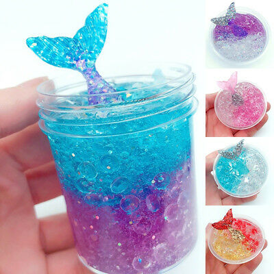 Fluffy Floam Slime Scented Stress Relief Kids Crystal Mermaid Mud Toys Colorful