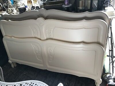 French oak double  ,painted ,beautiful vintage carved Louis XV,