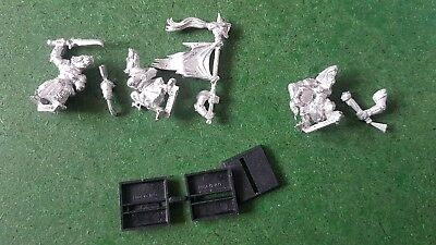 Games Workshop Warhammer Fantasy Skaven Stormvermin Command Metal GW  OOP Lot 1