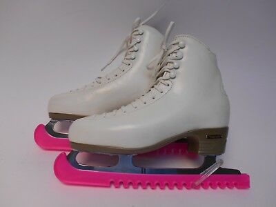 Ladies white leather ice skates by Risport UK size 7½