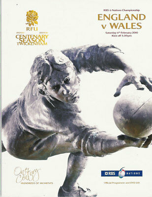 ENGLAND v WALES 2010 RUGBY PROGRAMME 6 FEBRUARY - TWICKENHAM DVD INCLUDED