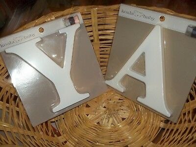 NEW Koala Baby UPPER CASE WOODEN Wall Letter - White  A OR Y = AVAILABLE SELECT