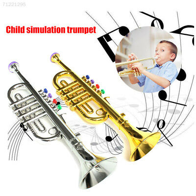 698F Kids Children Toy Trumpet with 2 Colored Keys Musical Instrument Gift