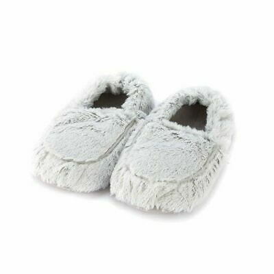 Warmies Slippers Grey Marshmallow Microwaveable Warm Fluffy Adult UK Size 3-7