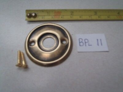 A 46 mm PRESSED BRASS DOOR KNOB BACK PLATE AGED ANTIQUE FINISH RIM LOCK BPL 11