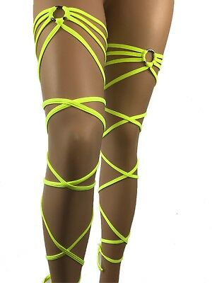 Exotic Dancewear  Wraps Leg Garter Rave Outfit Gartini  Clubwear Stripperwear UV