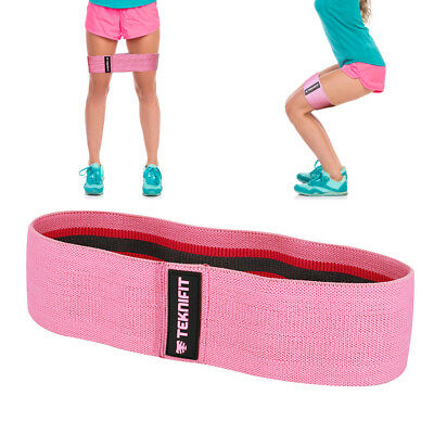 Teknifit Booty Builder - Pink Fabric Resistance Hip Glute Band Circle