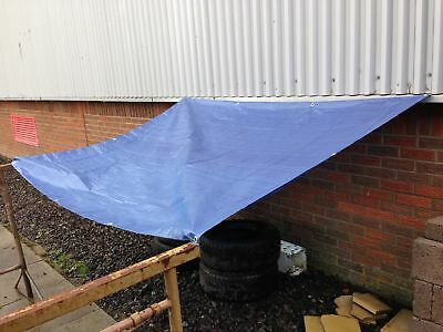 Yuzet Blue Waterproof Tarpaulin Ground Sheet Lightweight Camp Cover Tarp Eyelets