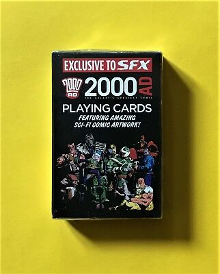 Pack of 2000 AD playing cards - SEALED (given away with SFX magazine, July 2008)