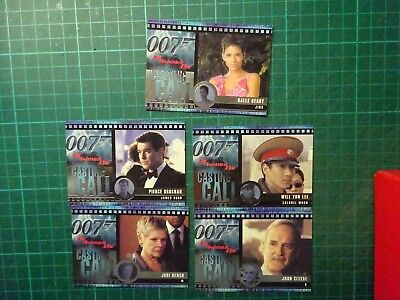 JAMES BOND 007 Casting Call Trading Cards From Die Another Day - Rittenhouse