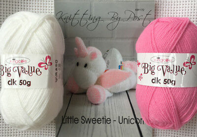 Knitting By Post Unicorn Sweetie Kit Complete With Wool and Knitting Pattern