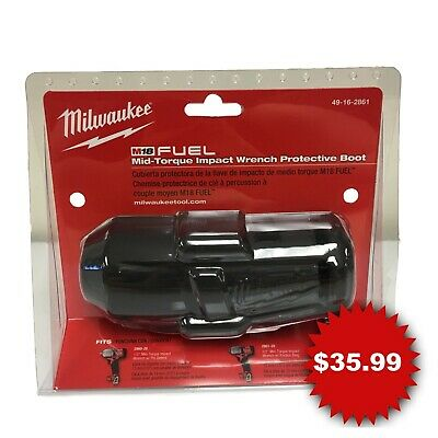 Milwaukee 49-16-2861 M18 FUEL Impact Wrench Protective Boot for 2860-20 2861-20