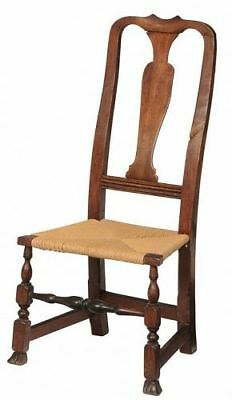 Antique American Queen Anne Maple Side Chair, mid 18th C.