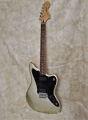 RARE Silver Sparkle Squier Vintage Modified JAGMASTER Electric Guitar by Fender