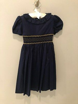 NWT Beautiful Navy dress trim w/ Gold Perfect for any Young Princess Size 6