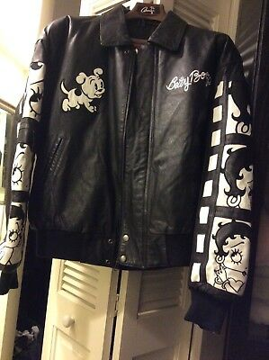 Betty Boop American Toons Leather Jacket Size Medium