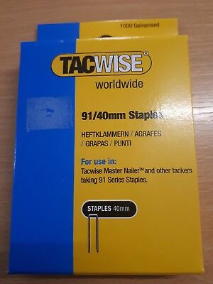 Tacwise 91 Series Galvanised Staples 15mm - 40mm.