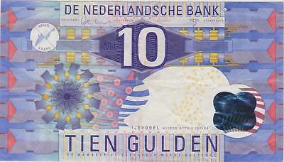 Netherlands 10 gulden 1997 / Vf / P 99 / 276 / Rare testnote: different varnish