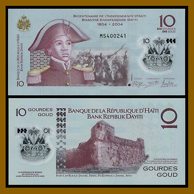 Haiti 10 Gourdes, 2013 (2017) P-279 Comm. Independence 1804-2014 FIrst Polymer