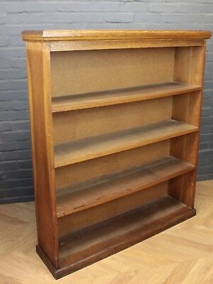 Antique Golden Oak Open Front Bookcase Fitted with Four Shelves
