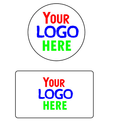 24 Personalised Business Name Stickers Thank You Seals Your Logo Address Labels