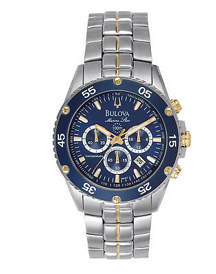 Bulova Marine Star Men's 98H37 Quartz Chronograph Two-Tone Bracelet 40mm Watch