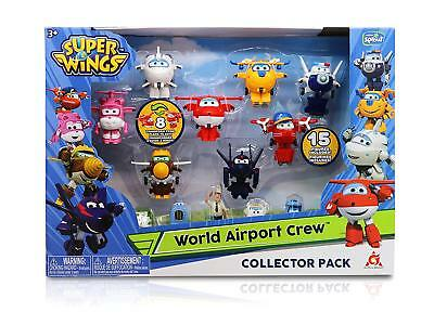 Super Wings - Season 2 - Transform-a-Bots World Airport Crew | Collector Pack |