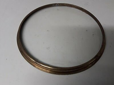 "Clock Bezel Brass With Flat Glass 10 9/16"" Dia"