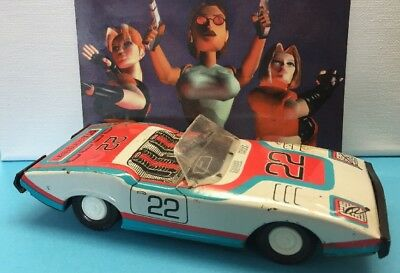 Vintage Collectable GTX Racing Sprint Sedan Litho Tin Toy Car