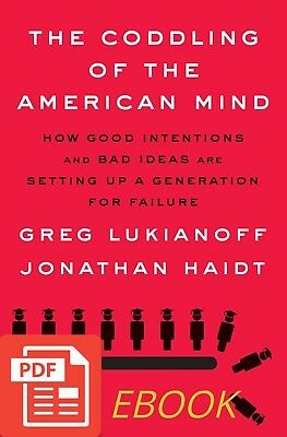 The Coddling of the American Mind by Greg Lukianoff New 2018 EPUB MOBI PDF