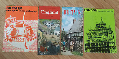 Vintage Britain Travel Brochures - Lot of 4 Guide London