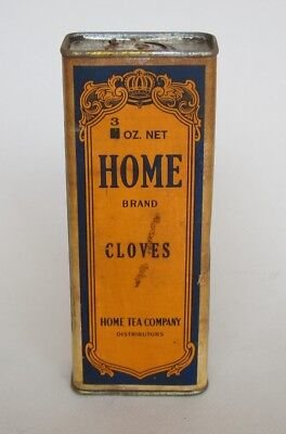 Vintage Home Spice Tin by the Home Tea Company unusual tall tin