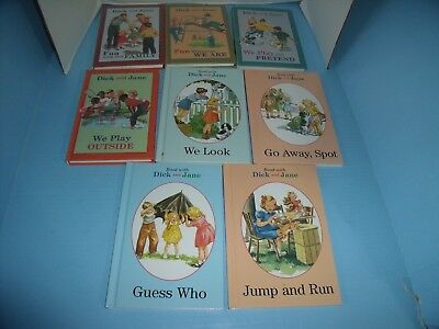 Lot Of 8 Children's Learning To Read With Dick And Jane