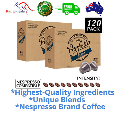 Nespresso Compatible Coffee Pods Capsules Various Intensity Flavours 120 Packs