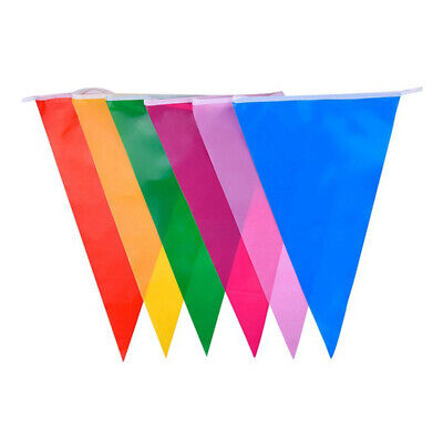 Multi Colour Banner Bunting Party Event Home Garden Decoration T9M1