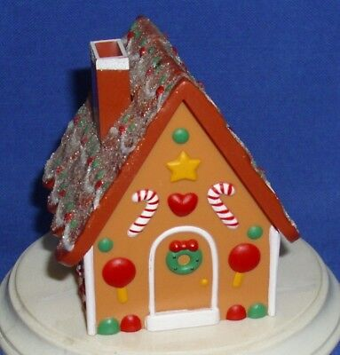 Hallmark Christmas Merry Miniatures Container Gingerbread House 1987 Opens Used